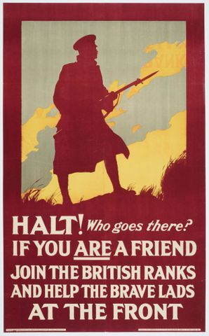 Image: Poster, 'Halt! Who goes there?'