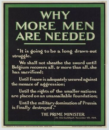 Image: Poster, 'Why More Men Are Needed'