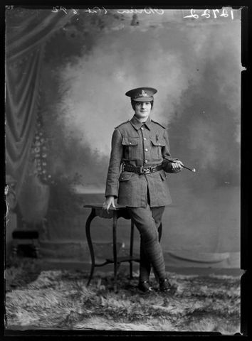 Image: Portrait of Kathleen Veronica O'Brien, wearing a soldier's uniform.
