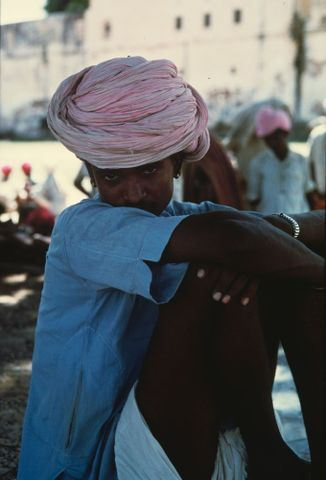 Image: [Young man with pink turban. (From the series 'Monsoon')]