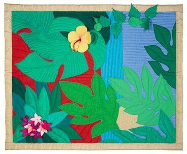 Image: 'Tropical Garden' (art quilt)