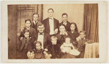Image: Man and woman with ten children