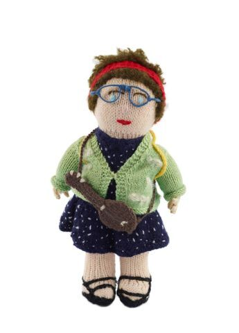 Image: Knitted doll, 'Camp Leader'