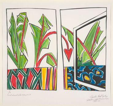 Image: Window with banana trees