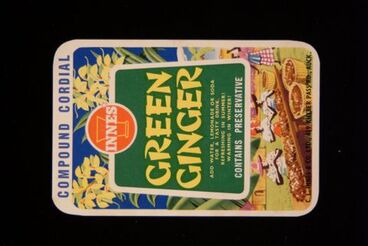 """Image: Food Label Sample - """"Innes Compound Cordial Green Ginger"""""""