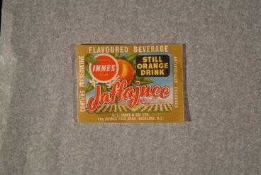 """Image: Food Label Sample - """"Innes Jaffajuice Still Orange Drink"""""""