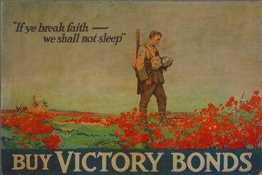 "Image: Poster, ""If ye break faith - we shall not sleep"""