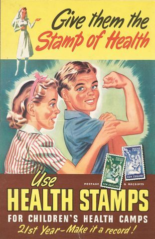 Image: Poster, 'Give them the Stamp of Health'