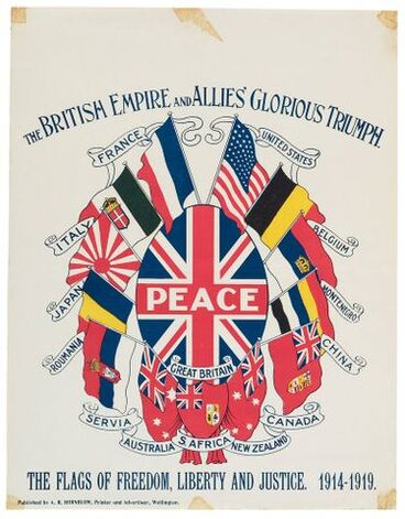Image: Poster, 'The British Empire And Allies' Glorious Triumph'