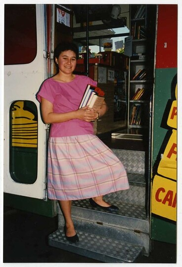 Image: Librarian on Mobile Bus