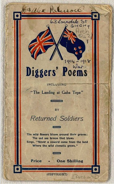 Image: Diggers Poems - Cover
