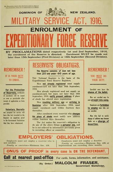 Image: Conscription Poster