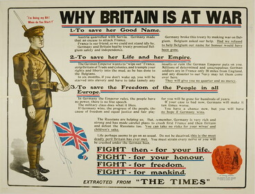 """Image: """"Why Britain is at War"""" recruitment poster"""
