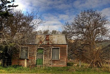 Image: Old house, Little River, Banks Peninsula, Canterbury, New Zealand