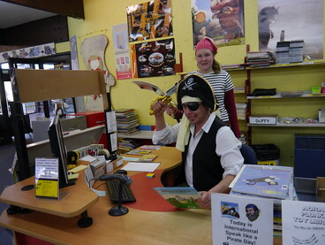 Image: Pirate librarians with picture book plunder