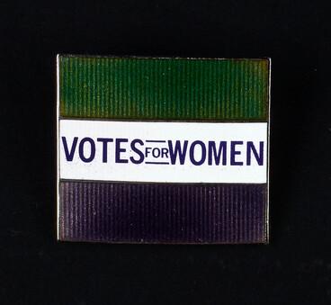 Image: Emily Davison and Votes For Women, 1993 badge