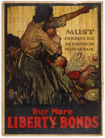 Image: Poster, 'Must children die and mothers plead in vain?'
