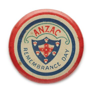 Image: Badge, ANZAC Remembrance Day