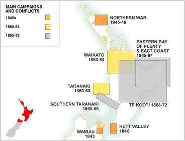 Image: New Zealand Wars map