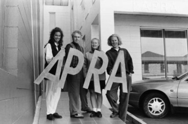 Image: Mike Chunn and the 1993 APRA Silver Scroll awards