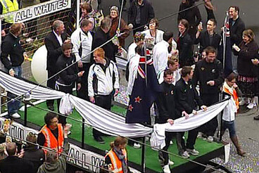 Image: All Whites' parade - photos and video