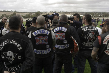 Image: Police warn public about Rebels gang
