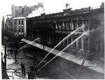 Image: Firemen dampening down Ballantyne's building, Christchurch