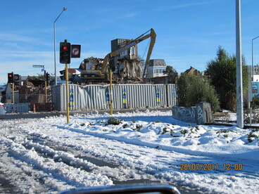 Image: Snow in Christchurch - 26 July 2011