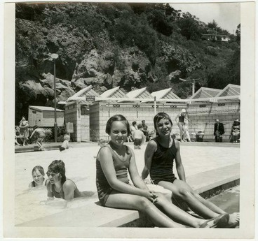 Image: Taking a dip at the pool in Scarborough