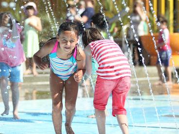Image: Water Play at the Margaret Mahy Playground