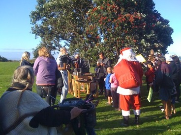 Image: Santa at the Pohutukawa Festival