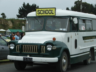 Image: Leithfield 150 years : Parade : school bus