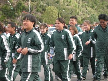 Image: Sarah Walker Parade - Kawerau South Primary School Children