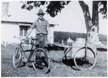 Image: Keith Biggs and his Bicycle