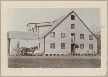 Image: Trapnell's Flour Mill and Delivery Cart, Brightwater, early 1900s