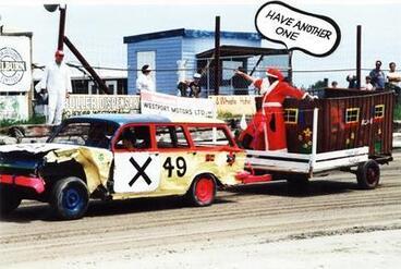 Image: Santa in Grand Parade at Speedway