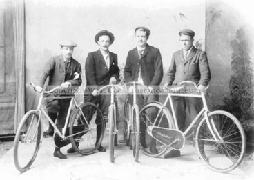 """Image: Trails and Cycle Ways of Westland """"Four Young Men Looking For Adventure"""""""