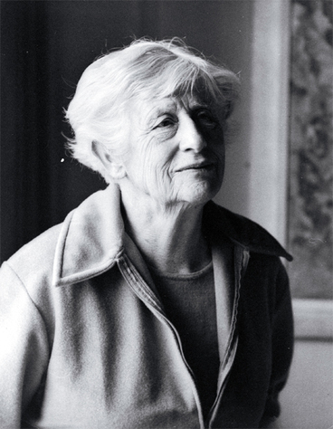 Image: Ngaio Marsh in old age, one of the last to be taken of her