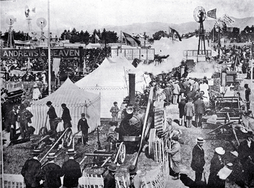 Image: Carnival Week in Christchurch : the implement section of the Canterbury A & P Association's metropolitan show.