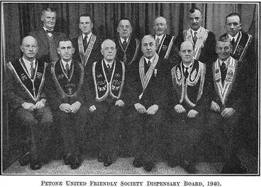 Image: Petone United Friendly Society Dispensary Board, 1940.
