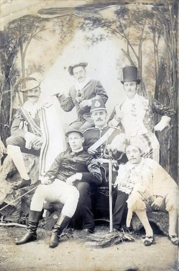 Image: Men in costumes