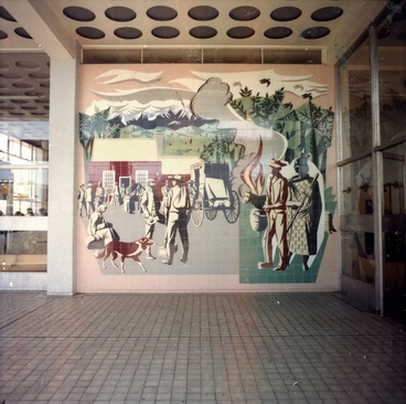 Image: E. Mervyn Taylor mural in the Masterton Post Office building: Photograph