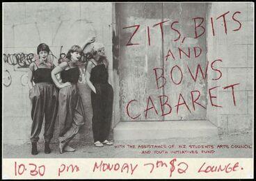 Image: Zits, Bits and Bows Cabaret