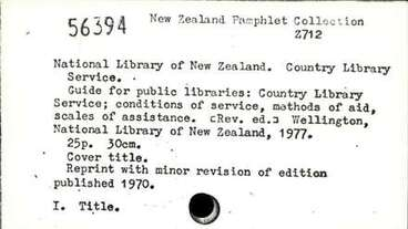 Image: Guide for public libraries: Country Library Service; conditions of service, methods of aid, scales of assistance