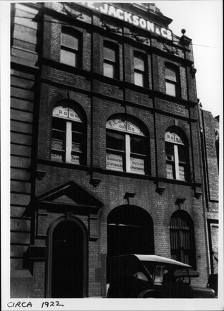 Image: F.E Jackson & Co. Ltd. Elliott St. premises.