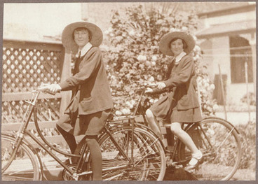 Image: [Girls on bicycles]