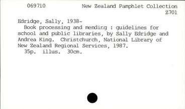 Image: Book processing and mendirg : guidelines for school and public libraries