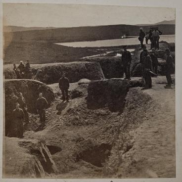 Image: Native earthworks at Rangiriri basically destroyed. Taken Nov 21 1863