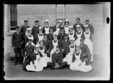 Image: [Group portrait of attendants , Avondale Lunatic Asylum]