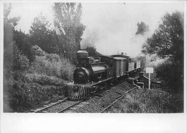 Image: Train [at foot of Domain?].